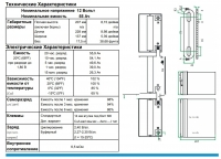 Аккумулятор Haze HZB12-55 AGM