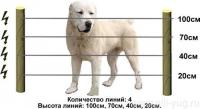 Электроизгородь 2 Дж 100х100 м 4 ряда (провод 1,2 мм) для защиты от бродячих собак