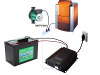 Система для резервного питания газового котла 300 Вт (1 кВт)