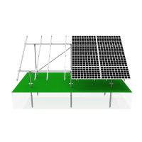 Комплект установки 10-ти солнечных батарей на землю ( 2 ряда ног )