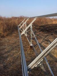 Комплект установки 6-ти солнечных батарей на землю ( 2 ряда ног )